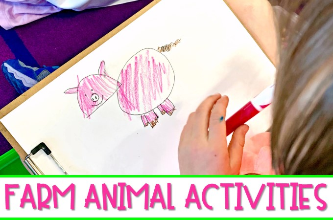 Farm animal activities to make learning about farm animals fun and engaging! Close reading, directed drawings, writing, a craft, and more!