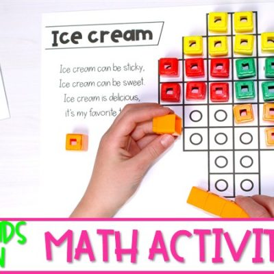Fun Hands On Math Activities Using Snap Cubes (FREE! Sample)