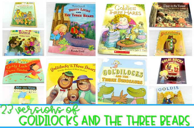 Goldilocks and the three bears stories. 23 different versions of this classic story. Have fun comparing and contrasting these fractured fairy tales.