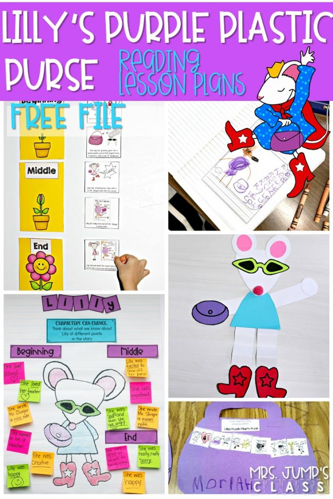 Lilly's Purple Plastic Purse reading comprehension lesson plans for K-2! This FREEBIE includes 5 lesson plans, complete with student response activities and a craft! #lillyspurpleplasticpurse #readingcomprehension #freelessonplans #engagingreaders