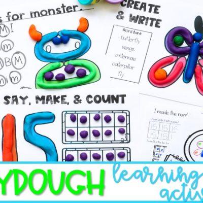 Playdough Learning Activities for Kindergarten and 1st Grade