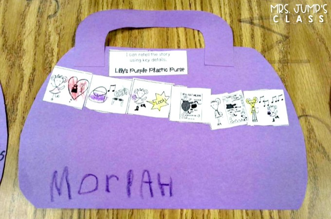 Lilly's Purple Plastic Purse reading comprehension lesson plans for K-2! This FREEBIE includes 5 lesson plans, complete with student response activities and a craft!