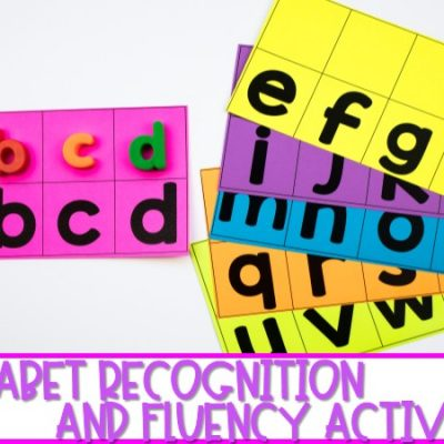 Alphabet Recognition and Fluency Activities for Kindergarten (FREE FILE)