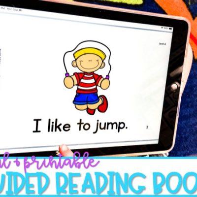 Printable & Digital Guided Reading Books for Kindergarten & First Grade