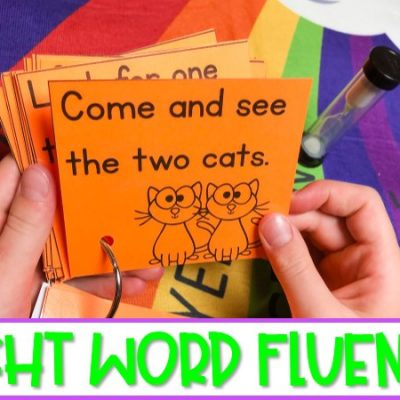 Sight Word Fluency Phrase Cards for Fluency Practice and Assessment
