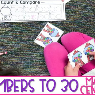 27 Math Centers to Practice Numbers to 30 in Kindergarten