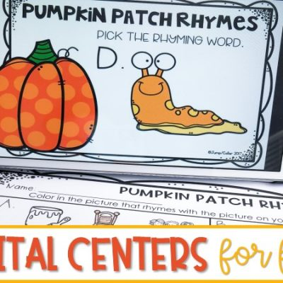Fall Digital Centers for Kindergarten and First Grade