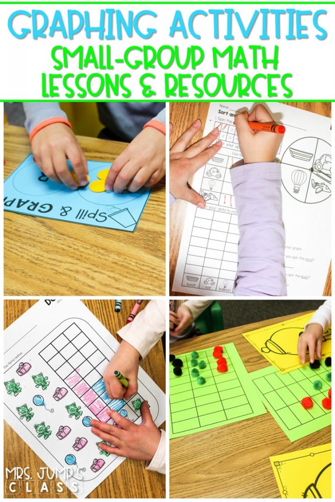 Graphing Activities to practice measurement and data. Concrete, pictorial, and abstract activities to develop a deeper understanding of mathematics. #smallgroupmath #graphingactivities