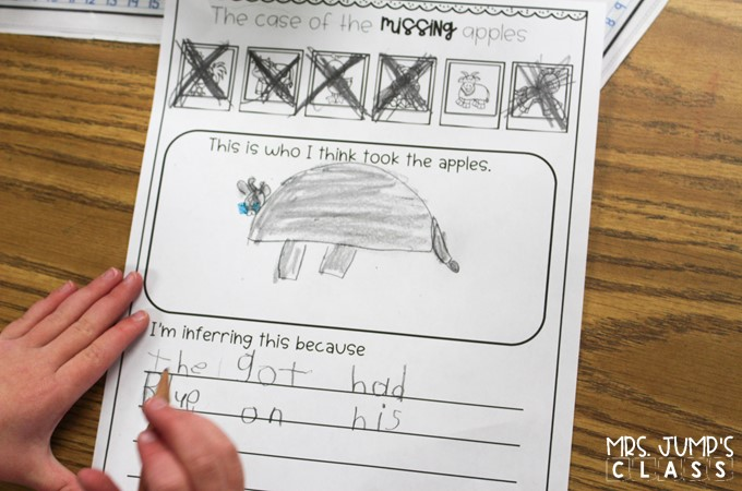 Making Inferences is fun while you lead your inference detectives through the investigation. Students use clues to rule out suspects and solve the case.