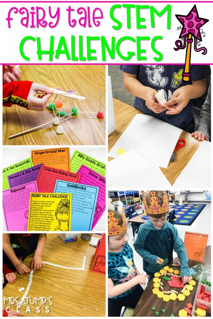 STEM challenges to engage your primary students. Students collect clues by completing STEM and math activities to break the spell on Cinderella.