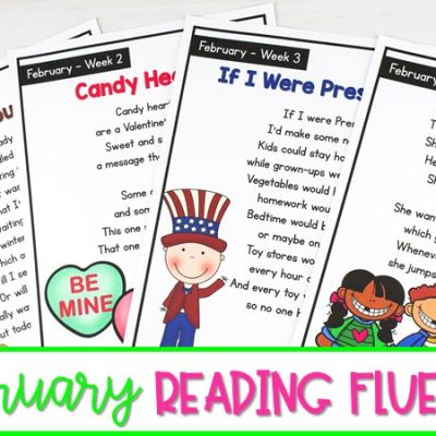 February Reading Fluency Activities for 1st and 2nd Grade
