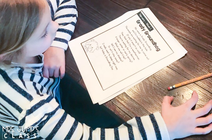 Focus on reading fluency in February. Differentiated fluency passages and activities that can be used in class or given for homework.