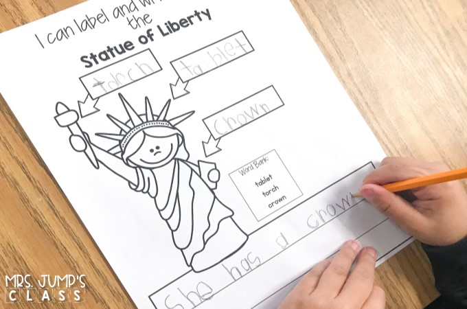 American symbols activities and resources. Informational texts, anchor charts, crafts, science experiments, emergent reader, math games, writing activities, and more!