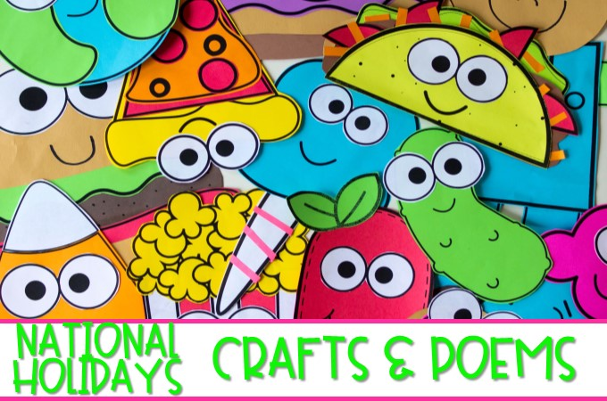 These easy crafts are so much fun and perfect for celebrating some quirky national holidays. Cherry popsicle day, Pickle day, Taco day, and more!