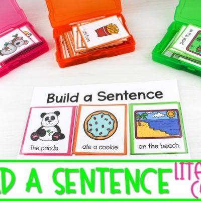 Sentence Building Activity   Literacy Center for K-1