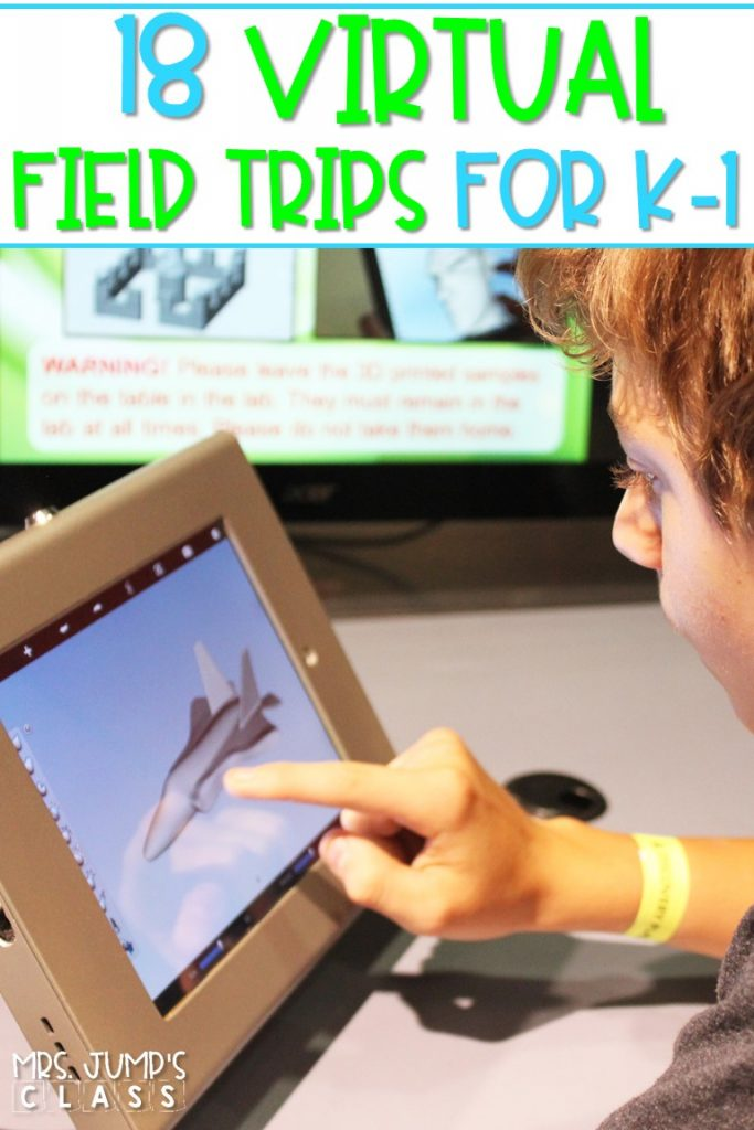 A list of 18 virtual field trip ideas for kindergarten and first-grade students. This collection of ideas consists of videos and interactive virtual tours.