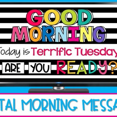 Digital Morning Messages for Pre-K, Kindergarten, & First Grade