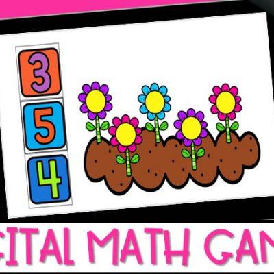Interactive Digital Math Games for Kindergarten & First Grade