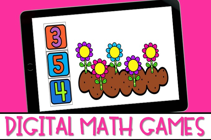 Digital math games to practice skills that meet K/1 math standards. These fun games are available in PowerPoint and Google Slides.