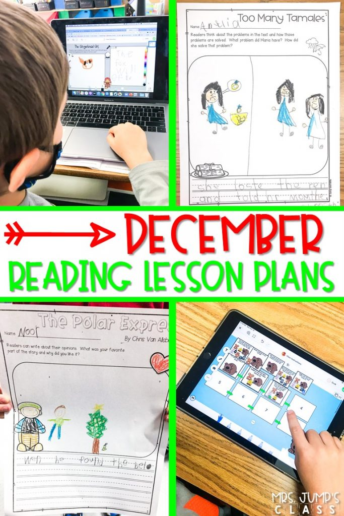 Reading lesson plans for December are here! Digital response activities for your favorite Gingerbread and December stories!