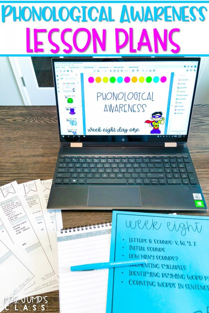 Phonological awareness lesson plans and digital slides to make daily instruction simple! A systematic way to teach students to decode and spell words.