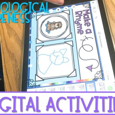 Phonological Awareness Digital Activities for Kindergarten & 1st Grade