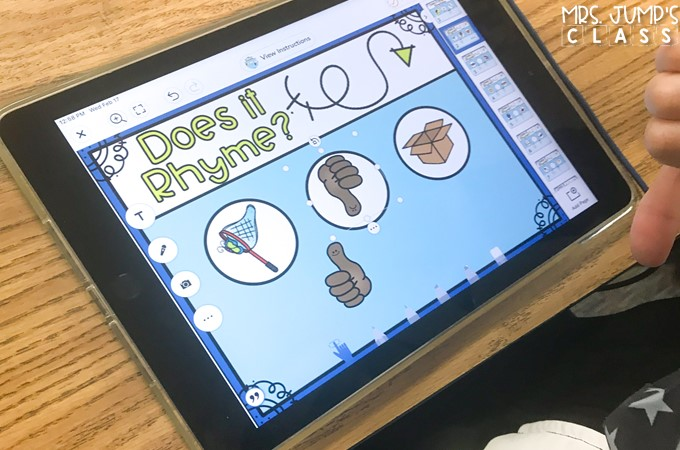 Phonological Awareness digital activities to practice rhyming, syllables, letter sounds, word concepts, onset & rime, and sounds in words.