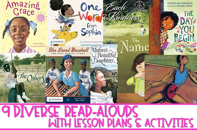 Diverse read alouds to share with your K-2 students. Reading comprehension lesson plans and daily activities, along with a craft for each book!
