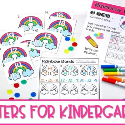 Centers for Kindergarten | Math and Literacy Activities