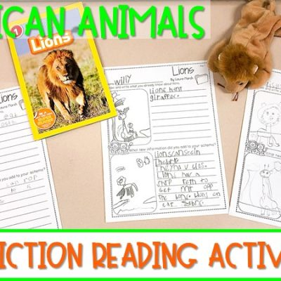 African Animal Activities and Lesson Plans for Kindergarten & First Grade
