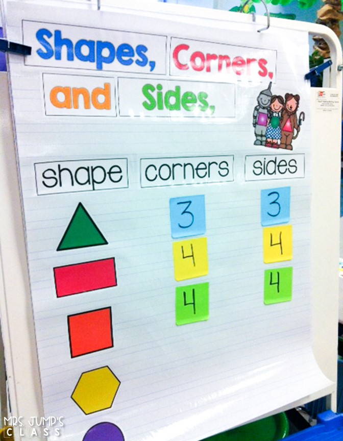 Kindergarten math lesson plans for teaching numbers to 5, 2D shapes, and 3D shapes. This resource provides detailed instruction for your first 4 weeks of math!