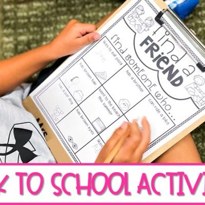 Back to School Activities and Crafts for the Primary Classroom