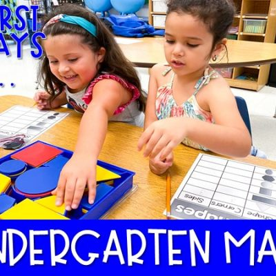 Kindergarten Math Lessons and Activities for the First 20 Days!